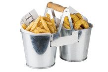 French fries bucket Tin