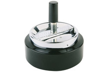 Black ashtray with rotary button