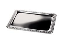 Stainless steel serving tray Schönner Essen collection