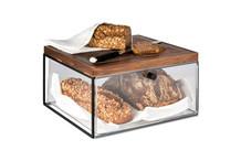 Drawer set, metal frame, acrylic drawer and oiled walnut cutting board