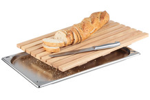 Wood bread board with GN 1/1 tray.