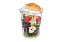 Transparent cup with lid - 8 pieces