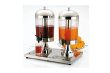 Double juice Dispenser stainless steel Star 2 X 8 L