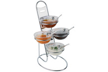 Buffett ladder with bowls and its covers Little collection
