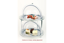 Acrylic round cold buffet 2 levels Doppeldecker collection