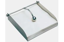 Napkin holder, satin stainless steel