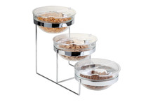 Cereal display with 3 glass bowls Ø 23 cm and lids Sunday collection