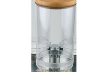 Polycarbonate container for muesli dispenser