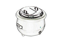Stainless steel pan for soup warmer