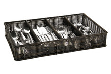 Cutlery basket GN 1/1, dark polypropylene
