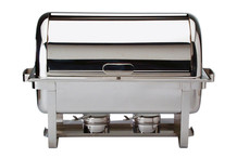 Stainless steel chafing dish GN 1/1 with roll-top cover Maestro collection