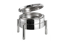 Round stainless steel chafing dish 6 L, Premium collection