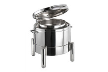 Stainless steel round chafing dish 10 L, Premium collection