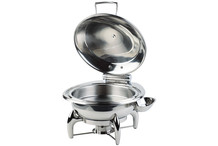 Round stainless steel chafing dish, 6 L Globe collection