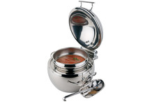 Round stainless steel chafing dish Globe collection