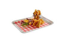 Small aluminium service tray