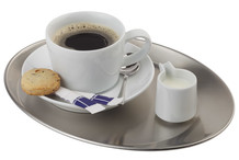 Stainless steel oval coffee tray Kaffeehaus collection