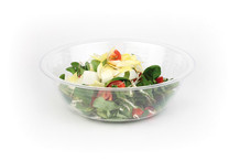 Clear salad bowl