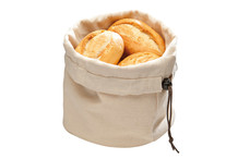 Cotton bread basket with stones pillow