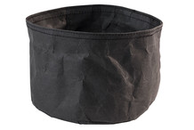 Round bread basket Paperbag black