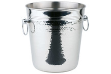 Stainless steel wine or Champagne cooler, 2 ring handles