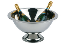 Stainless steel champagne bowl, edge satin polished finish