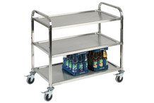 Stainless steel serving trolley 3 levels, top quality