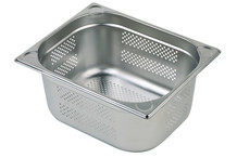 Stainless steel perforated GN container GN 1/2