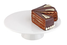 White melamine round cake plate
