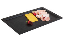 Melamine tray, slate imitation with edge