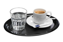 Oval melamine non sleep tray