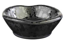 Black melamine bowl Glamour collection