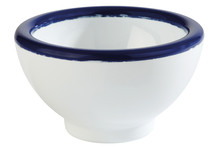 Melamine bowl / salad bowl white enamel appearance blue edge Pure collection