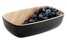 Frida bowl GN 1/9 black melamine and wooden finish