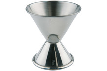 Stainless steel double cocktail jigger Ø 6 / 5 cm