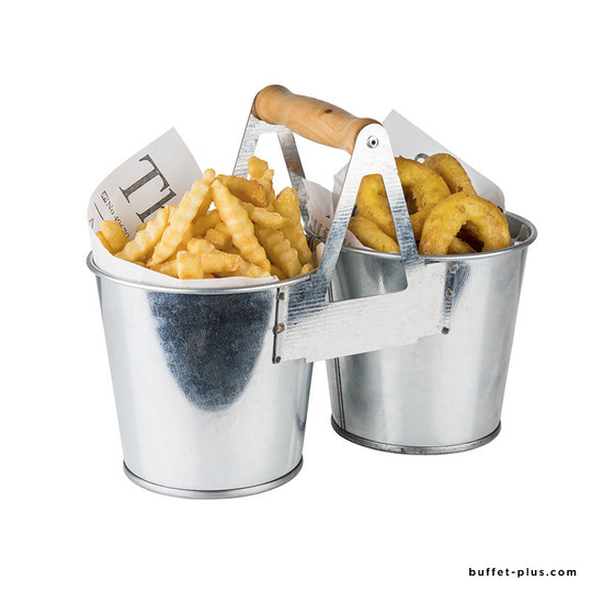 French fries bucket Tin