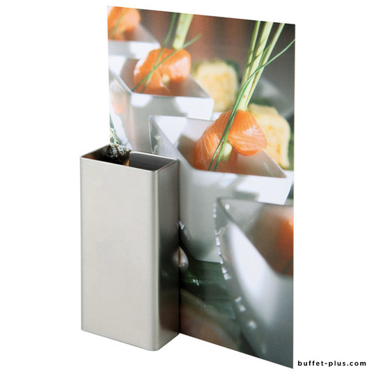 Set of 2 stainless steel  menu card holder