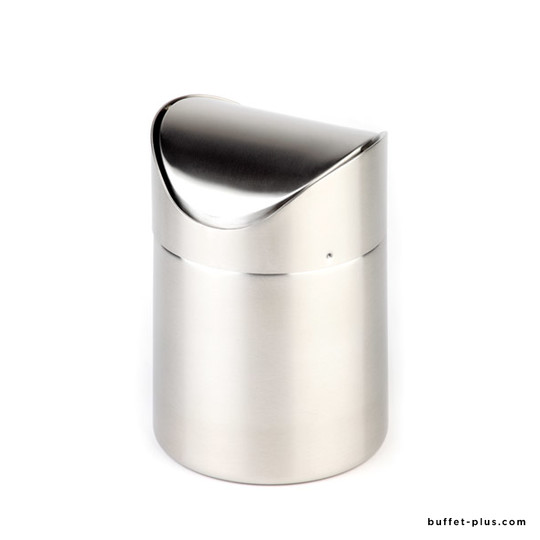 Table garbage bin, swing cover