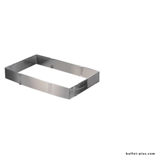 Rectangular adjustable cake setting ring