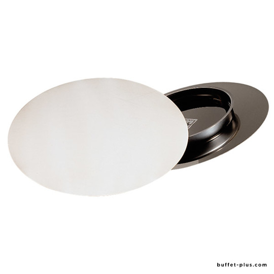 Stainless steel cake plate with foot