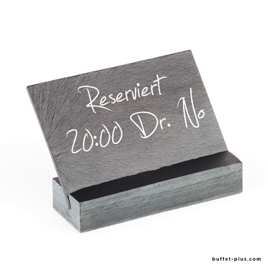 Table stand + slate sign