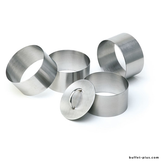 Set of mousse rings, and pusher