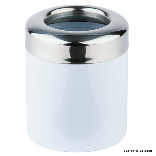 Table garbage bin white lacquered