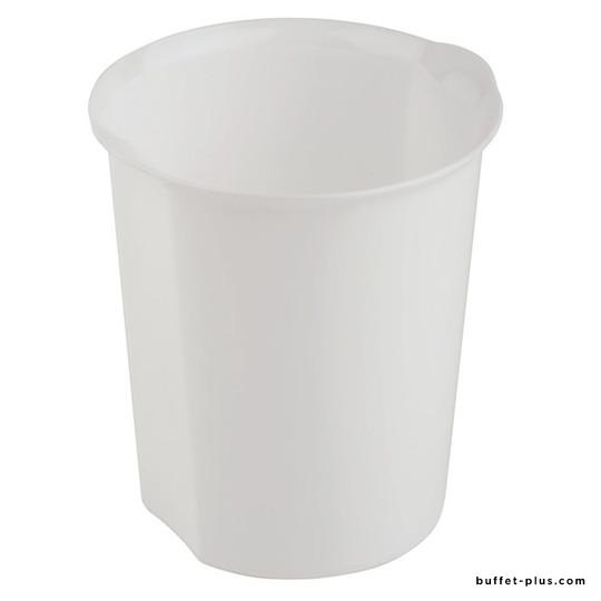 White or black table garbage bin