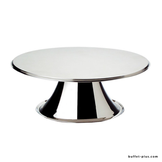 Stainless steel cake stand on stainless steel foot