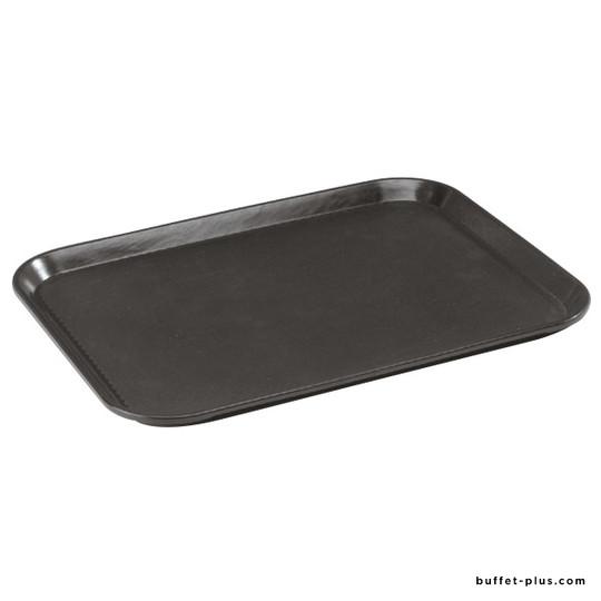 Non-slip rectangular tray