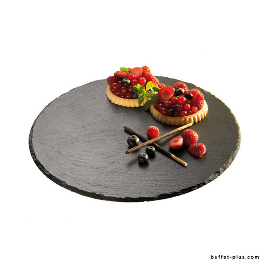 Turning natural slate cake stand