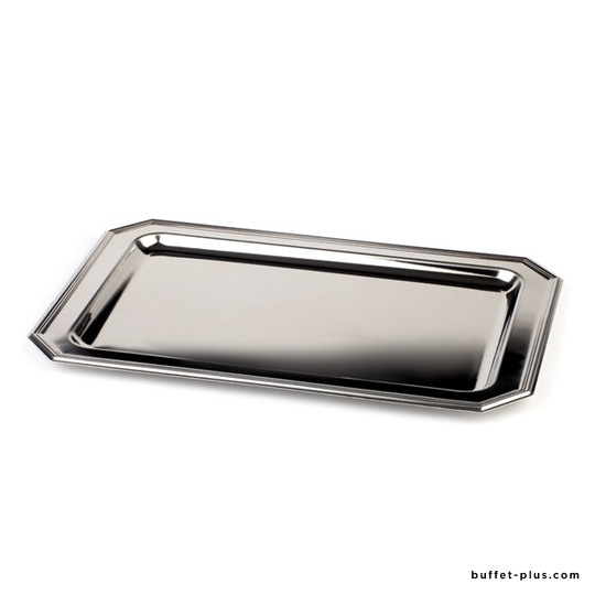Stainless steel tray cut angles Elegance collection