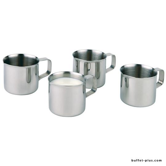 Stainless steel milk or cream jug
