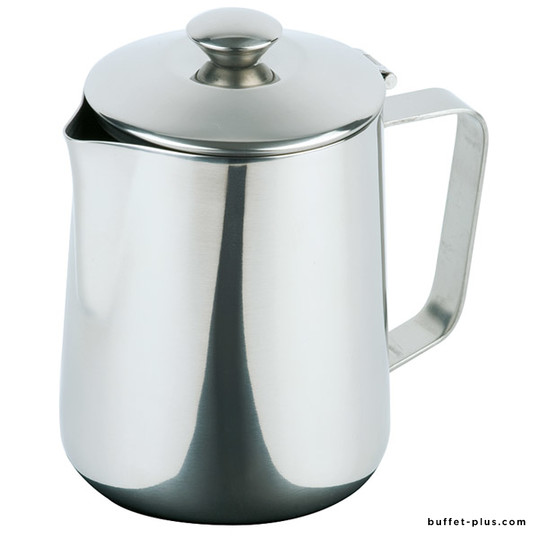Coffee pot with hinged cover